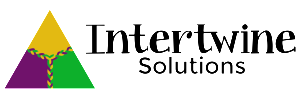 Intertwine Solutions logo - black text H